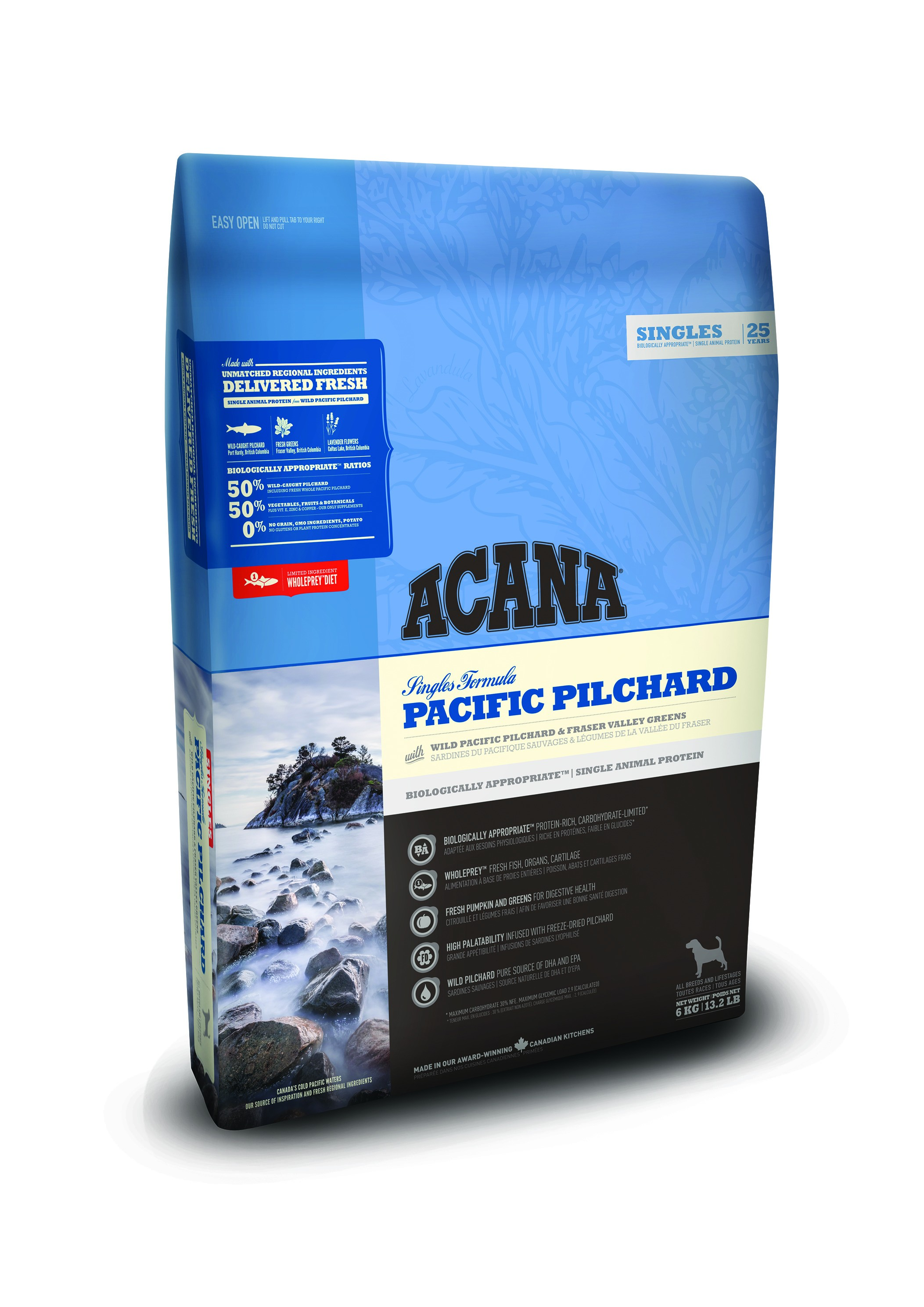 Acana Singles Pacific Pilchard hondenvoer