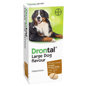 Drontal Large Dog Flavour ontwormingsmiddel