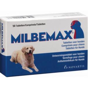 Milbemax large 2 x 2 tabl hond