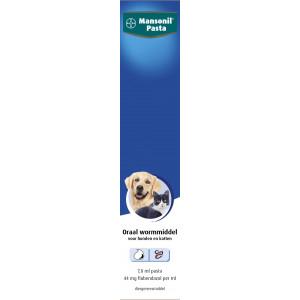 Mansonil Pasta Oraal wormmiddel voor Honden en Katten