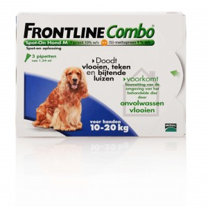 Frontline medium hond combo spot on 3 pack