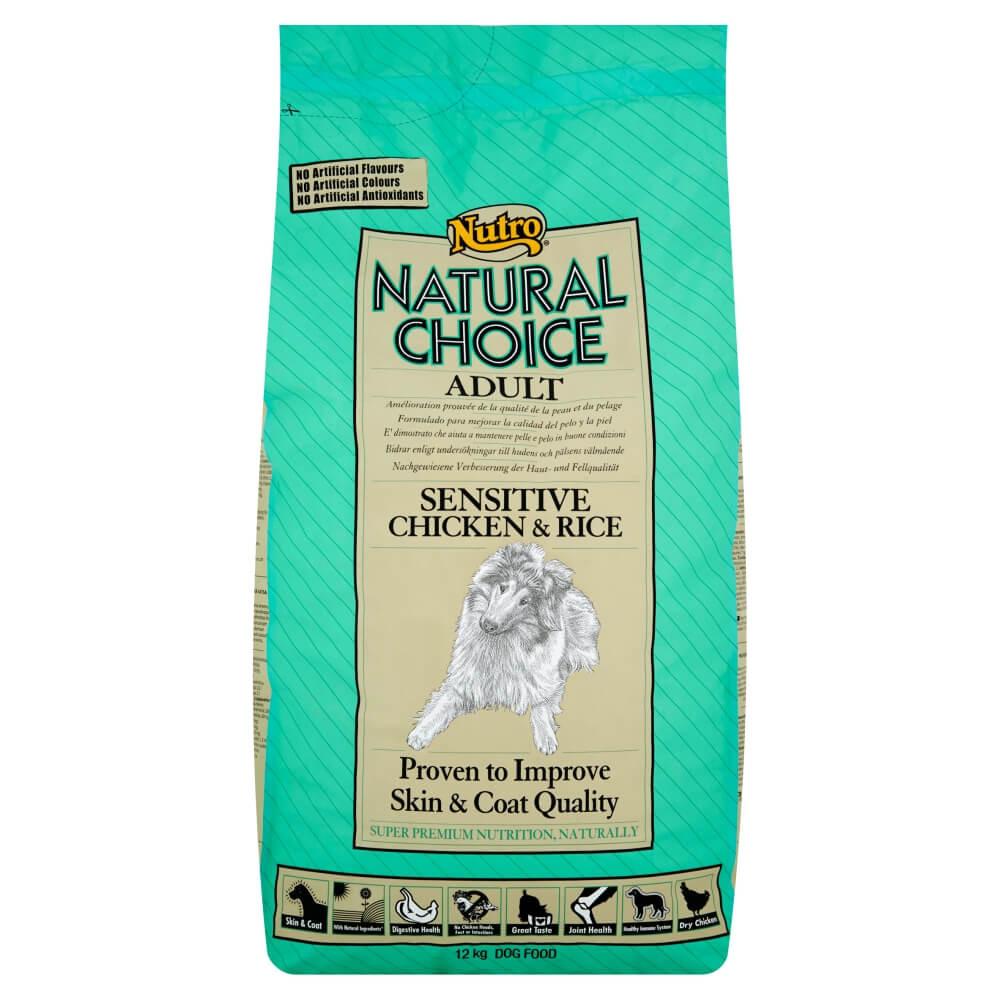 Nutro Choice Adult Sensitive Kip & Rijst hondenvoer
