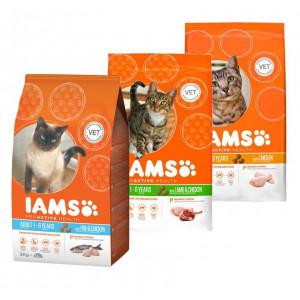 Iams Combi Pack Vis/Lam/Kip kattenvoer