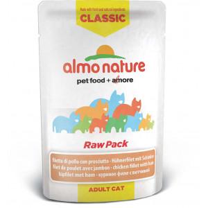 Almo Nature Classic Raw Pack Kipfilet met Ham 55 gram (5825) Per 24