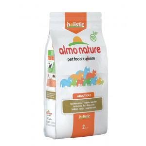Almo Nature Holistic Adult Kalkoen en Rijst kattenvoer 3 x 2 kg