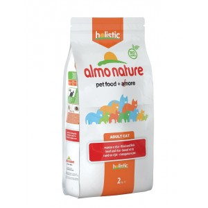 Almo Nature Holistic Adult Rund Rijst kattenvoer 3 x 2 kg Almo Nature Nat kattenvoer Almo Nature