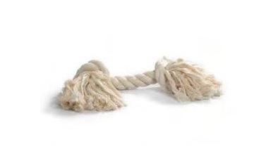 Flostouw Wit 27cm 2-knoops