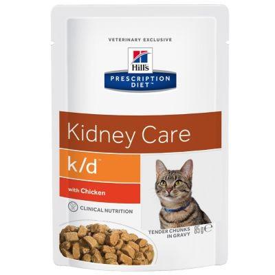 Hill's Prescription Diet Kat K/D Pouch Kip 85 gr kattenvoer