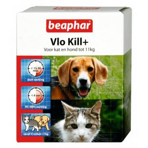 Beaphar 6 tabletten vlo kill+ kleine hond-kat tot 11 kg