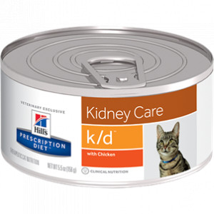 Hill's Prescription Diet Kat K/D 156 gr blik kattenvoer 1 tray (24 blikken)