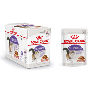 Royal Canin Royal Canin Pouch Sterilised kattenvoer 8 x In Saus Kattenvoer Royal Canin
