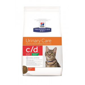 Hill's Prescription Diet C/D Urinary Stress Reduced Calorie kattenvoer