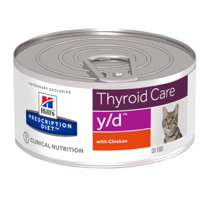 Hill's Prescription Y/D Thyroid kattenvoer blik 156 gr