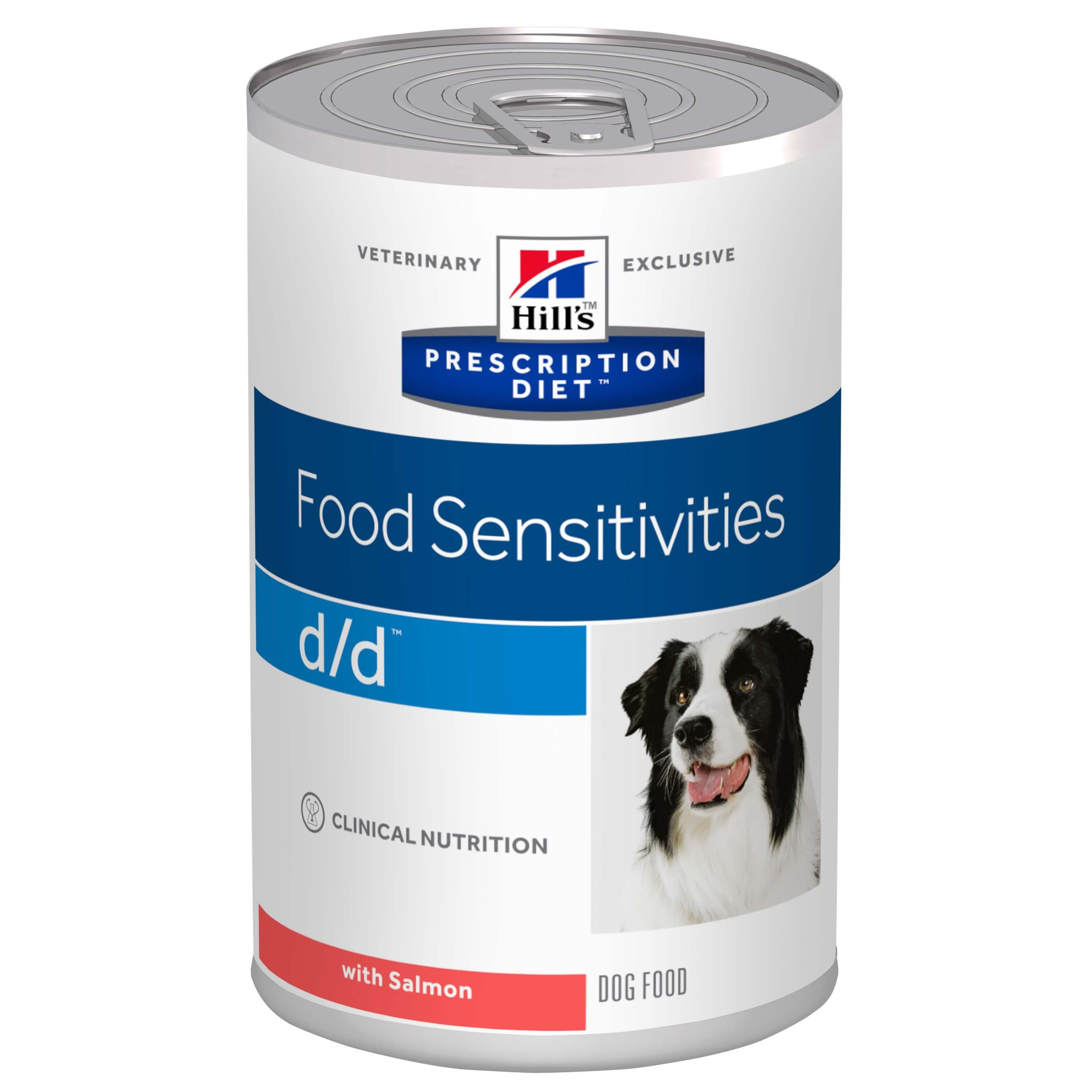 Hill's Prescription D/D Food Sensivities hondenvoer zalm (370 g blik)