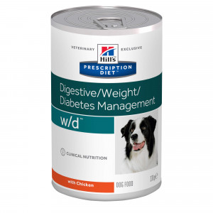 Hill's Prescription W/D Digestive/ Weight/Diabetes 370 g blik hond