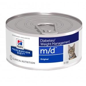 Hill's Prescription Diet M/D 156 gr blik kattenvoer 1 tray (24 blikken)