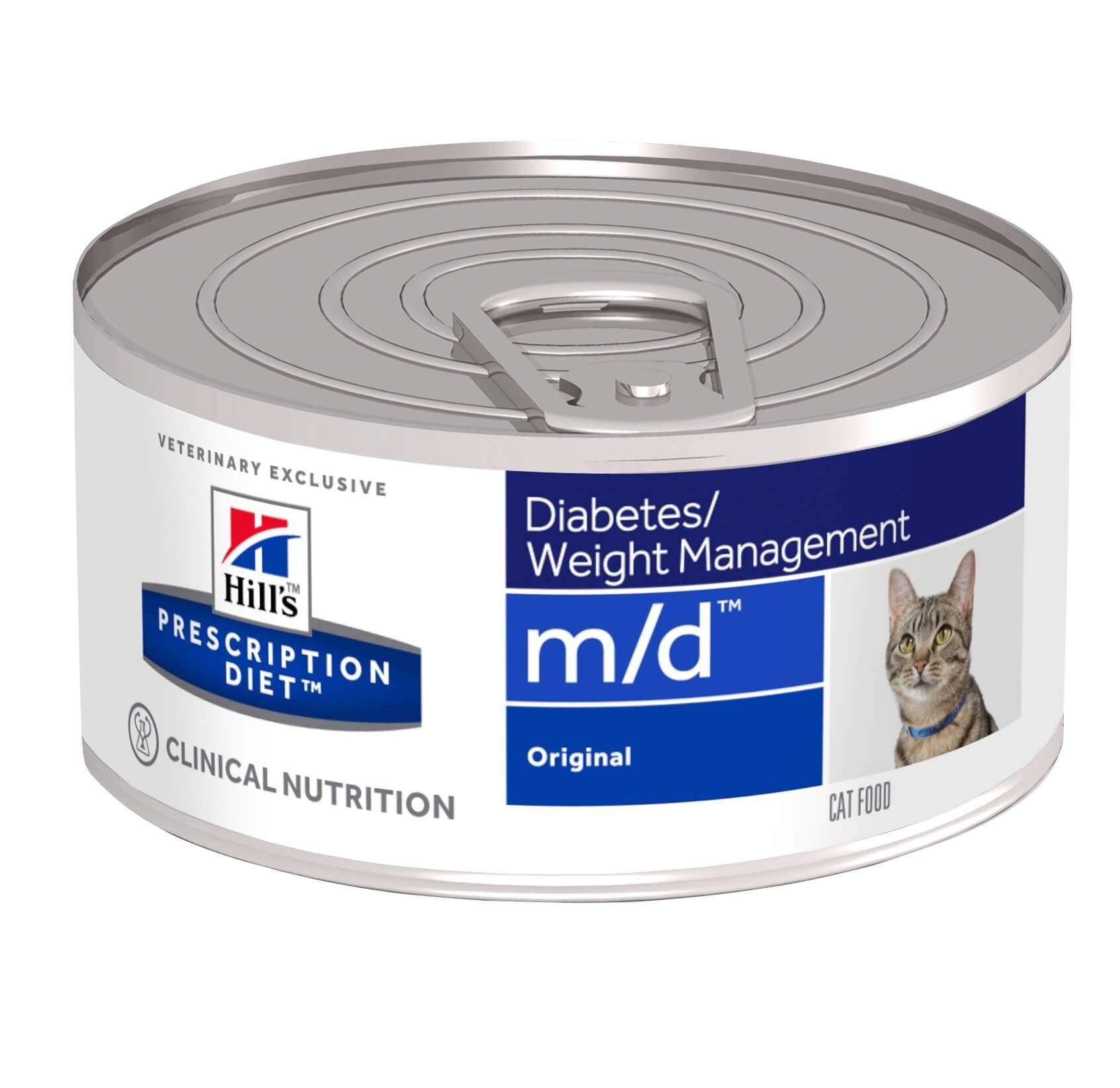 Hill's Prescription Diet M/D 156 gr blik kattenvoer