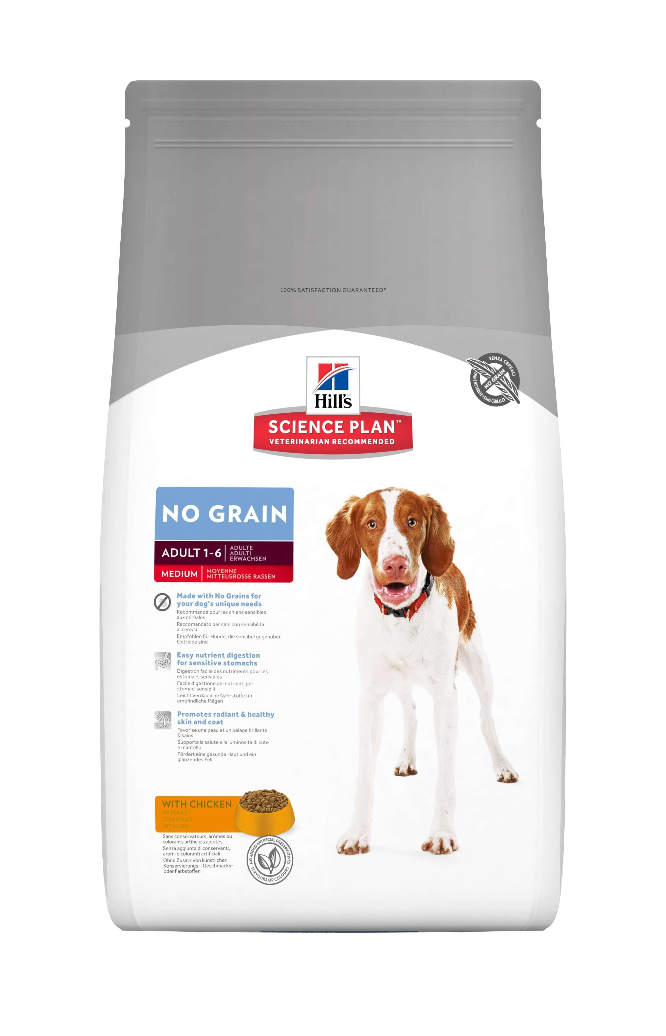 Hill's Adult No Grain met kip hondenvoer
