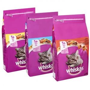 Whiskas Combipack kattenbrokjes tonijn 3.8 kg rund 3.8 kg Whiskas Nat kattenvoer Whiskas