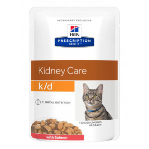 Hill's Prescription K/D Kidney Care kattenvoer zalm 85 g zakje