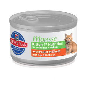 Hill apos s Kitten 1st Nutrition Mousse kattenvoer 3 trays (72 blikken) Hill apos s Kattenvoer Hill