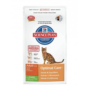 Hill's Optimal Care Adult Konijn kattenvoer 2 x 10 kg Hill apos s Kattenvoer Hill apos s
