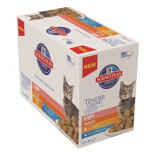 Hill's Adult Light Pouch Classic Selection kattenvoer 3 x 12 zakjes