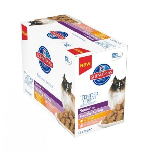 Kattenvoer Hill apos s Hill apos s Hill's Senior 11 Pouch Healthy Ageing kattenvoer 12 zakjes