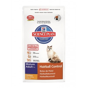 Hill's Mature-Senior Hairball Control kattenvoer 1.5 kg
