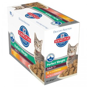 Hill apos s Adult Perfect Weight Pouch 85 gr kattenvoer 5 x 12 zakjes Hill apos s goedkoop online