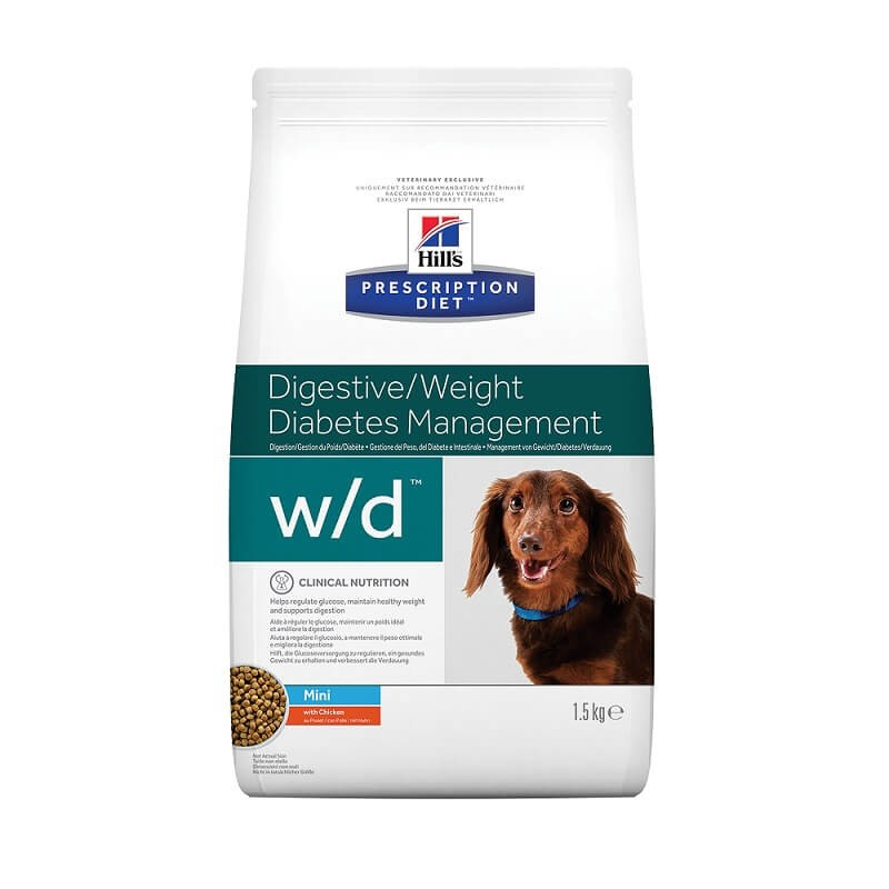 Hill's Prescription Diet Hond W/D Mini hondenvoer