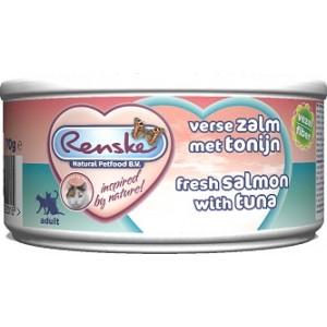 Renske Kat Adult Verse Tonijn & Zalm 70 gr 2 trays (48 blikken)