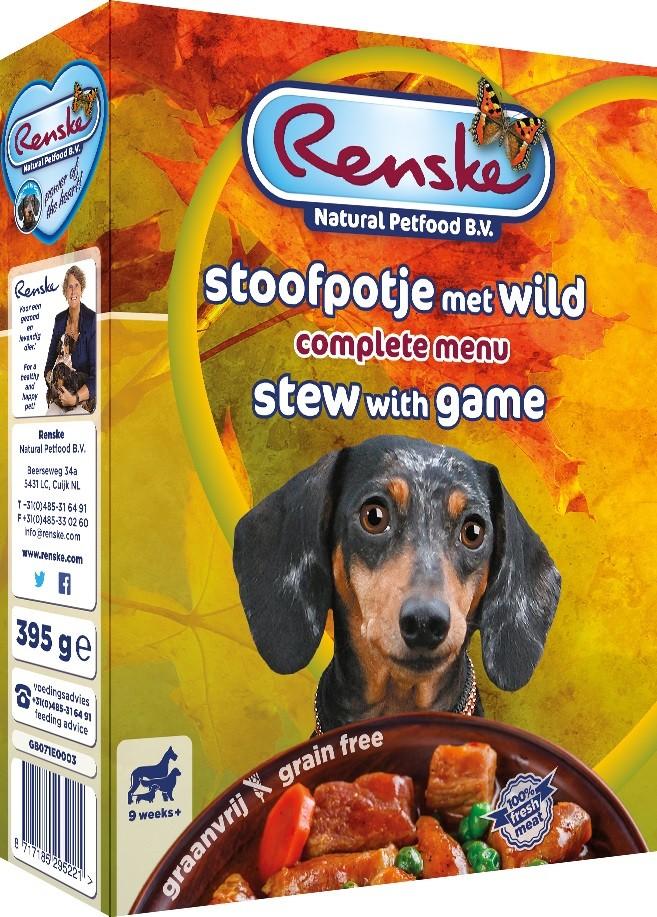 Renske Vers Graanvrij Stoofpotje met wild hondenvoer