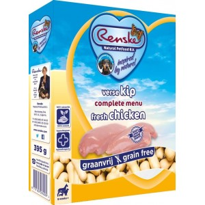 Afbeelding Renske Vers Graanvrij Kip hondenvoer 1 tray (10 x 395 gram)