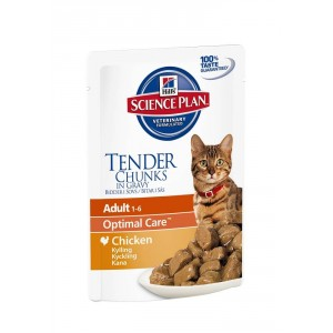 Hill apos s Optimal Care Pouch Adult Kip kattenvoer 3 x 12 zakjes Hill apos s Kattenvoer Hill apos s
