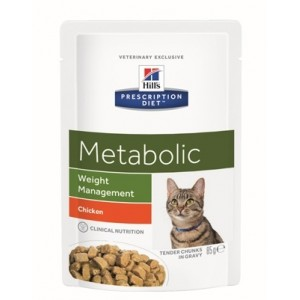 Hill's Prescription Diet Feline Metabolic maaltijdzakjes 12 x 85 gr.
