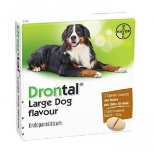 Ontworming Drontal Drontal Drontal Large Dog Flavour ontwormingsmiddel 2 Tabletten