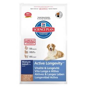Hill's Mature/Senior Active Longevity Lam & Rijst Hond