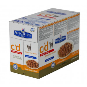 Hill apos s Prescription Diet Hill apos s Prescription Diet C D Urinary Stress Pouch Zalm kat 8 x