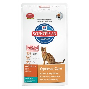 Hill's Optimal Care Adult Tonijn kattenvoer 10 kg