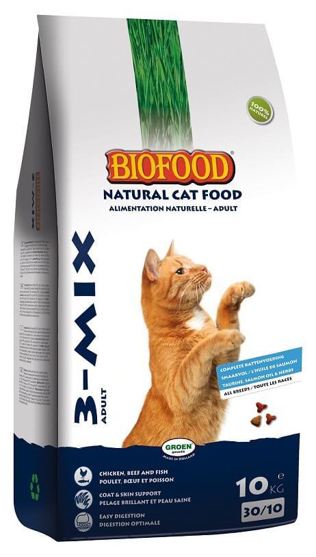 Biofood Kattenbrokjes 3-mix kattenvoer