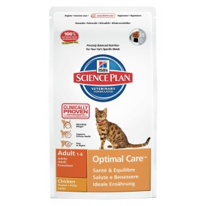 Hill's Optimal Care Adult Kip Kattenvoer 2 kg