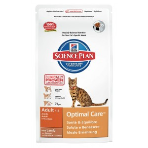 Hill apos s Hill apos s Optimal Care Adult Lam kattenvoer 10 kg Kattenvoer Hill apos s