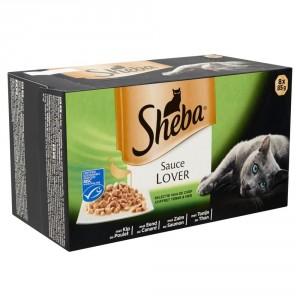 Sheba Sauce Lover Selectie van de Chef 1 doosje (8 kuipjes)