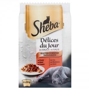 Sheba Délices du Jour Traiteur Selectie in Saus 50 gr