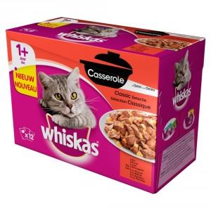 Whiskas Pouch 1 Casserole Classic Selectie in Gelei 2 doosjes Whiskas Nat kattenvoer Whiskas