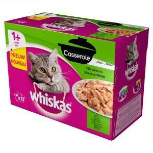 Whiskas Pouch 1+ Casserole Mix Selectie in Gelei 1 doosje