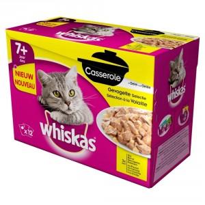 Whiskas Pouch Senior 7 Casserole Gevogelte Selectie in Gelei 1 doosje Whiskas laagste prijs