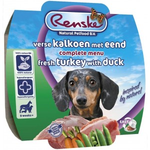 Renske Hond Vers Kalkoen & Eend 100 gram 24 x 100 gram