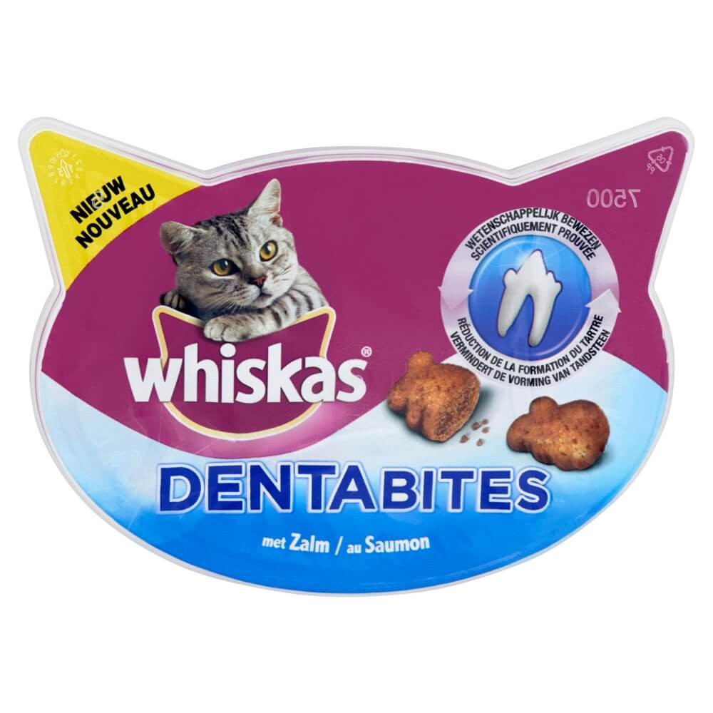 Whiskas Dentabites met Zalm Kattensnoep OP is OP